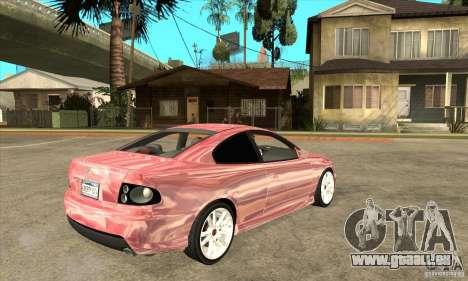Holden Monaro CV8-R für GTA San Andreas rechten Ansicht