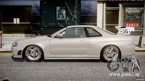 Nissan Skyline R34 Nismo pour GTA 4 est une gauche
