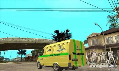 Gazelle du collecteur pour GTA San Andreas sur la vue arrière gauche
