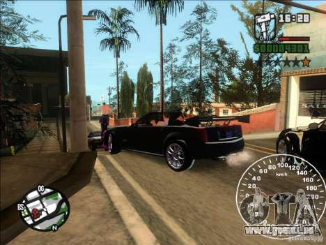 Cadillac XLR für GTA San Andreas zurück linke Ansicht