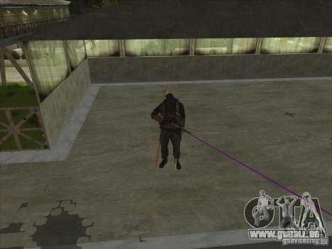 Weapon with laser für GTA San Andreas dritten Screenshot