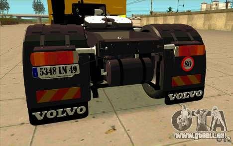 Volvo FH16 Globetrotter DHL für GTA San Andreas rechten Ansicht