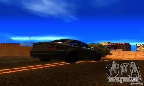 BMW M3 E46 TUNEABLE pour GTA San Andreas sur la vue arrière gauche