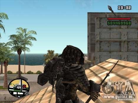La lance de Predator pour GTA San Andreas troisième écran