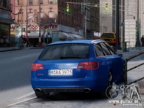 Audi RS6 Avant für GTA 4 hinten links Ansicht