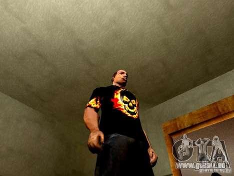T-shirt noir avec un crâne pour GTA San Andreas quatrième écran