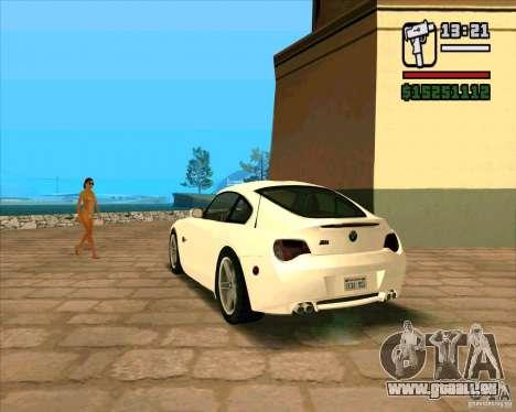 BMW Z4 M Coupe für GTA San Andreas linke Ansicht