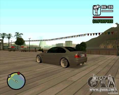 BMW E46 M3 Sport pour GTA San Andreas laissé vue