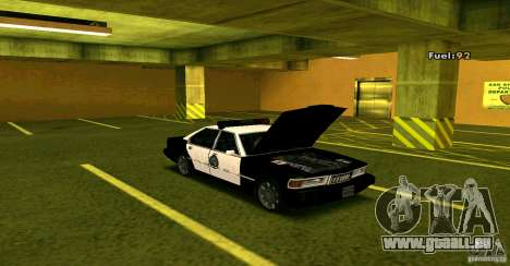 Sentinel Police LV für GTA San Andreas rechten Ansicht
