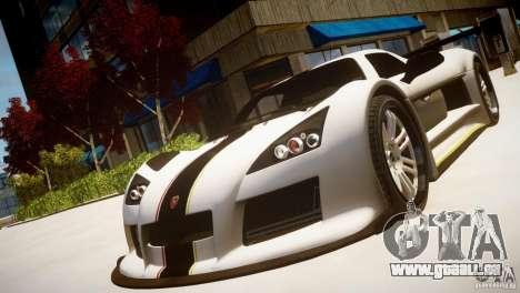 Gumpert Apollo Sport KCS Special Edition v1.1 pour GTA 4 Vue arrière