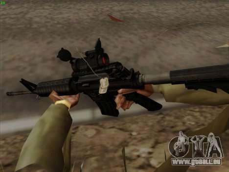 Colt Commando Aimpoint pour GTA San Andreas quatrième écran