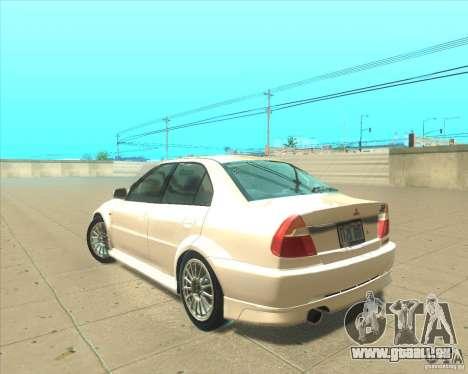 Mitsubishi Lancer Evolution VI 1999 Tunable pour GTA San Andreas vue de côté