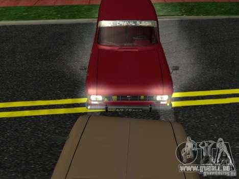 Moskvich 434 für GTA San Andreas zurück linke Ansicht