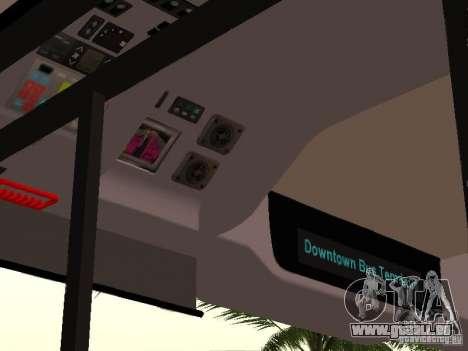 Volvo B7L pour GTA San Andreas vue intérieure