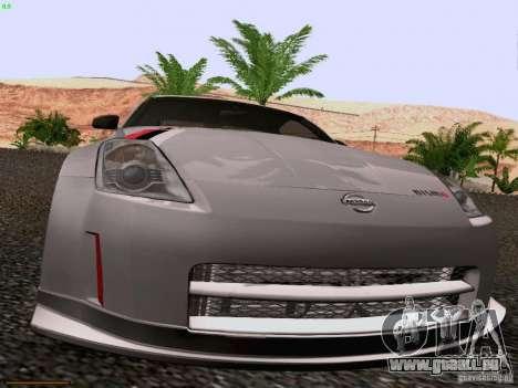 Nissan 350Z Nismo S-Tune für GTA San Andreas Innenansicht