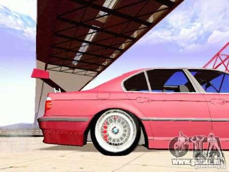 BMW 740i Tuned For Drift pour GTA San Andreas laissé vue