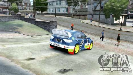 Subaru Impreza WRX STI Rallycross SHOEL Vinyl pour GTA 4 Vue arrière de la gauche