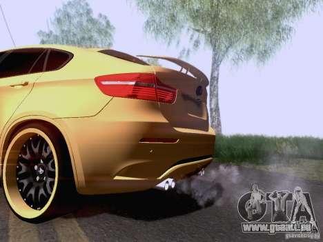 BMW X6M Hamann für GTA San Andreas zurück linke Ansicht