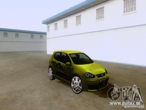 Volkswagen Golf V GTI pour GTA San Andreas laissé vue