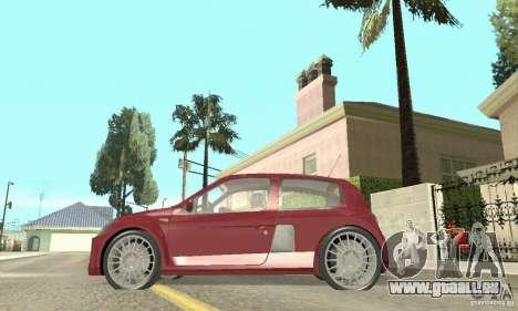 Renault Clio Phase 2 pour GTA San Andreas sur la vue arrière gauche