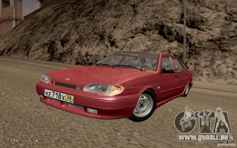 ВАЗ 2114 qualité pour GTA San Andreas sur la vue arrière gauche