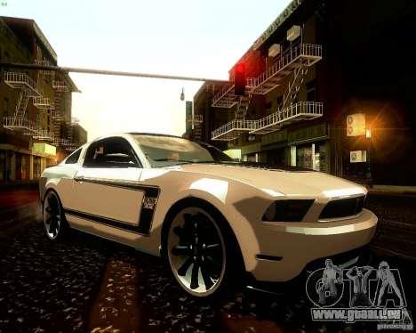 Ford Mustang Boss 302 2011 für GTA San Andreas Seitenansicht