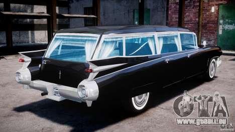 Cadillac Miller-Meteor Hearse 1959 pour GTA 4 est une vue de l'intérieur