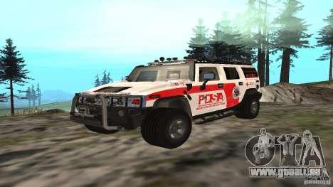 HUMMER H2 Amulance pour GTA San Andreas