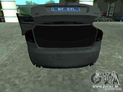 Holden Calais pour GTA San Andreas vue arrière