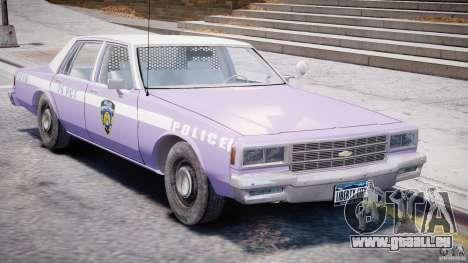 Chevrolet Impala Police 1983 v2.0 pour GTA 4 est une vue de l'intérieur