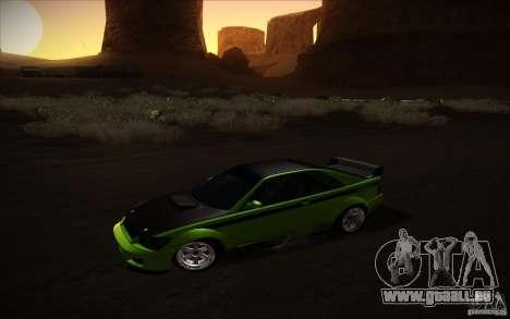 GTA IV Sultan RS pour GTA San Andreas sur la vue arrière gauche
