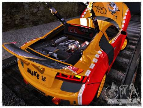 Audi R8 Calibri-Ace für GTA San Andreas Rückansicht