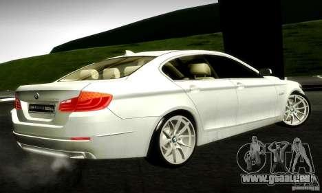 BMW 550i F10 pour GTA San Andreas sur la vue arrière gauche