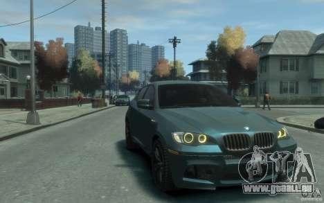 BMW X6-M 2010 für GTA 4 Rückansicht