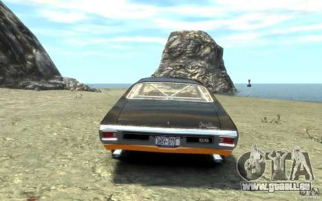 Chevrolet Chevelle SS 1970 pour GTA 4 Vue arrière de la gauche