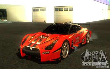 Nissan Skyline R35 GTR für GTA San Andreas Unteransicht