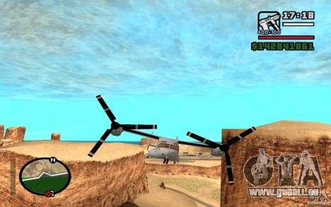 Bell V-22 Osprey pour GTA San Andreas laissé vue