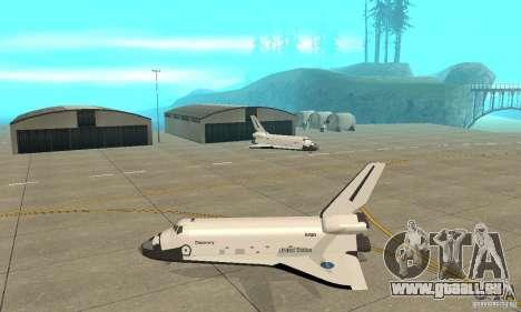 Space Shuttle Discovery pour GTA San Andreas laissé vue