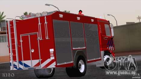 Mercedes-Benz Actros Fire Truck pour GTA San Andreas vue de droite
