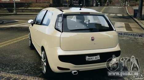 Fiat Punto Evo Sport 2012 v1.0 [RIV] pour GTA 4 Vue arrière de la gauche