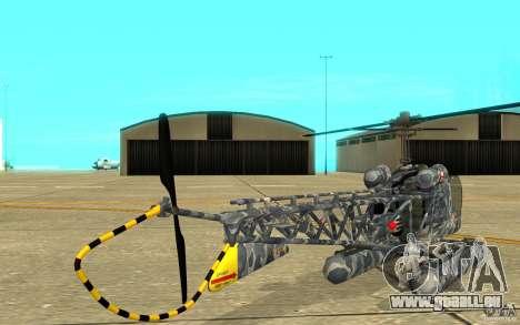 Sea Bell H13 pour GTA San Andreas vue de droite