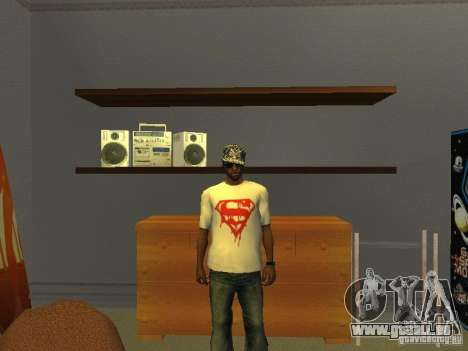 Superman t-shirt für GTA San Andreas