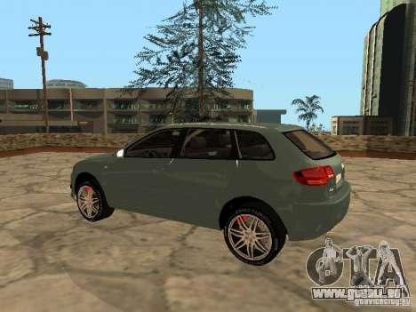 Audi S3 Sportback 2007 für GTA San Andreas zurück linke Ansicht