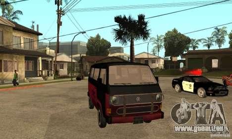 Volkswagen T3 Rusty pour GTA San Andreas vue arrière