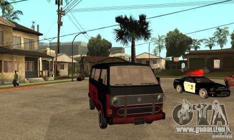 Volkswagen T3 Rusty für GTA San Andreas Rückansicht