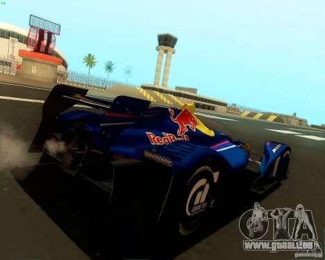 X2010 Red Bull für GTA San Andreas zurück linke Ansicht