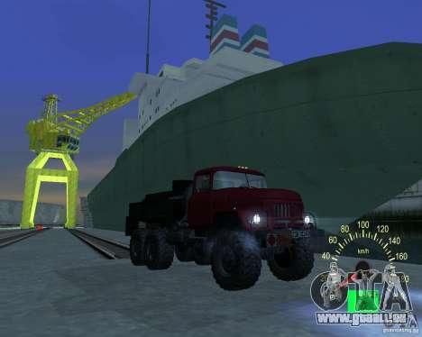 ZIL 131 pétrolier pour GTA San Andreas vue arrière