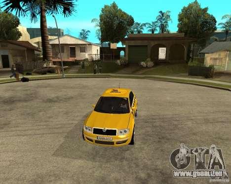 Skoda Superb TAXI cab pour GTA San Andreas vue intérieure