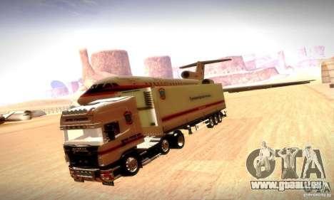 FEMA-Trailer-Russland für GTA San Andreas Rückansicht