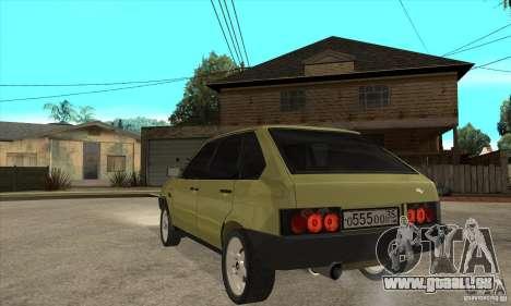 VAZ 21093 für GTA San Andreas zurück linke Ansicht